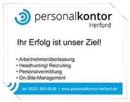 Sponsor Bahn 16 - Personalkontor Herford