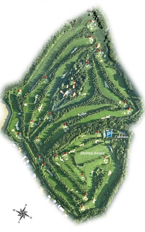 Platzübersicht 18-Loch-Platz Golfclub Ravensberger Land